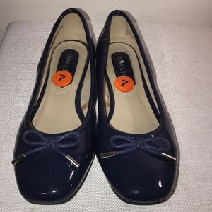 Rialto patent leather flat shoes.